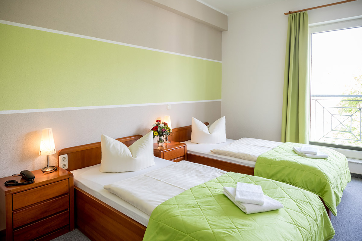 Twin Bed Zimmer Hotel Stadtfeld Magdeburg